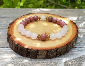 Rhodonite & Rose Quartz Bracelet