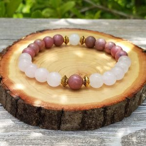 Rhodonite & Rose Quartz Bracelet